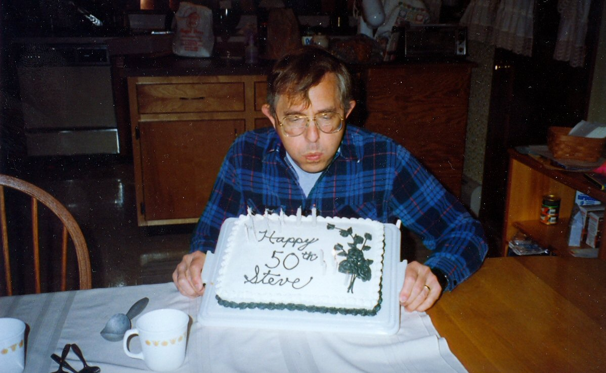 1992 Steve with birthday cake