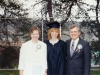 1991 Steve and Evy with Stephanie at graduation