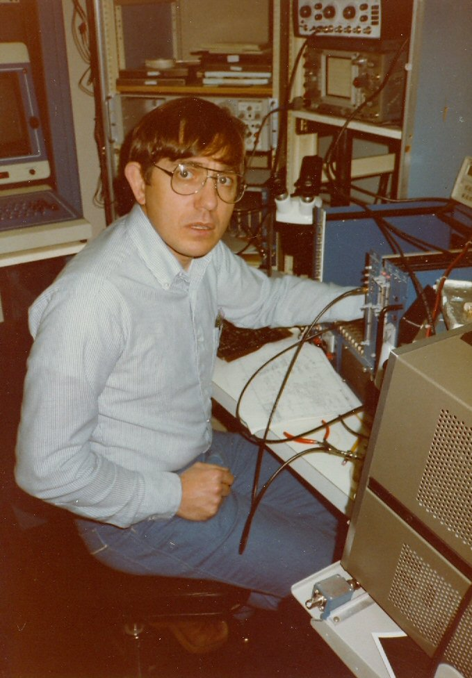 1984 Steve at LeCroy with Camac Crate