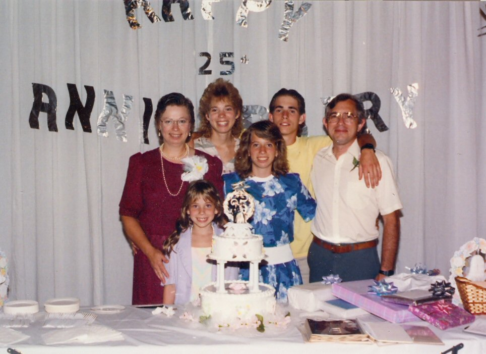 1989 Family at 25th wedding anniversary