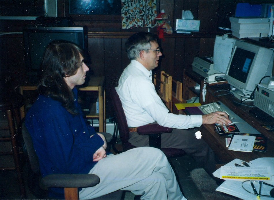 1994 Jeremy and Steve at computer
