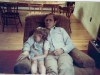 1985 Steve and Kathy sleeping in chair