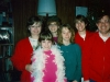 1989 Family at Christmas with red sweaters